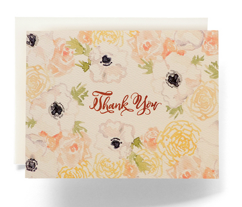 Floral Thank You Card Set