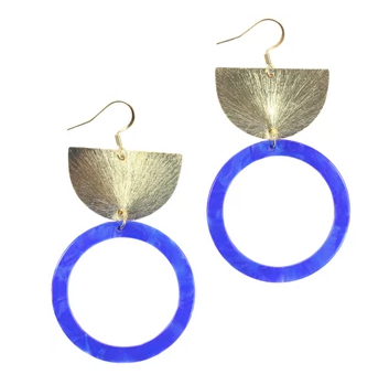 Lennon Earrings - Blue