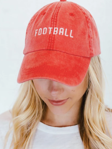 Red Football Hat