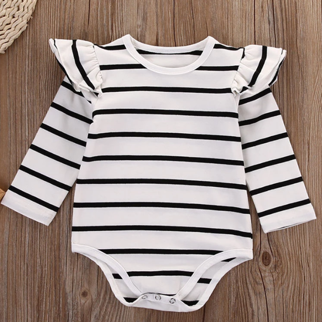 Everly Striped Romper