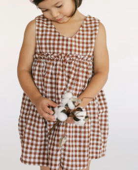 Francine Gingham Dress - Cider
