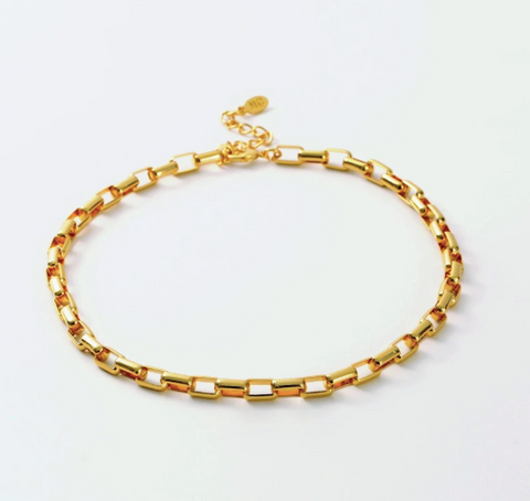 Bari Shiny Gold Necklace