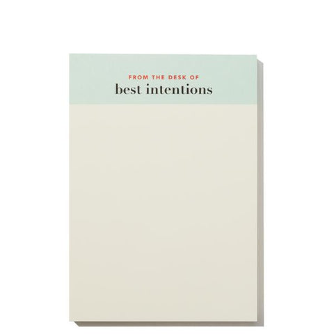 Best Intentions Notepad