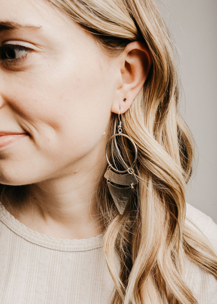 Stacked Sunra Earrings - Silver