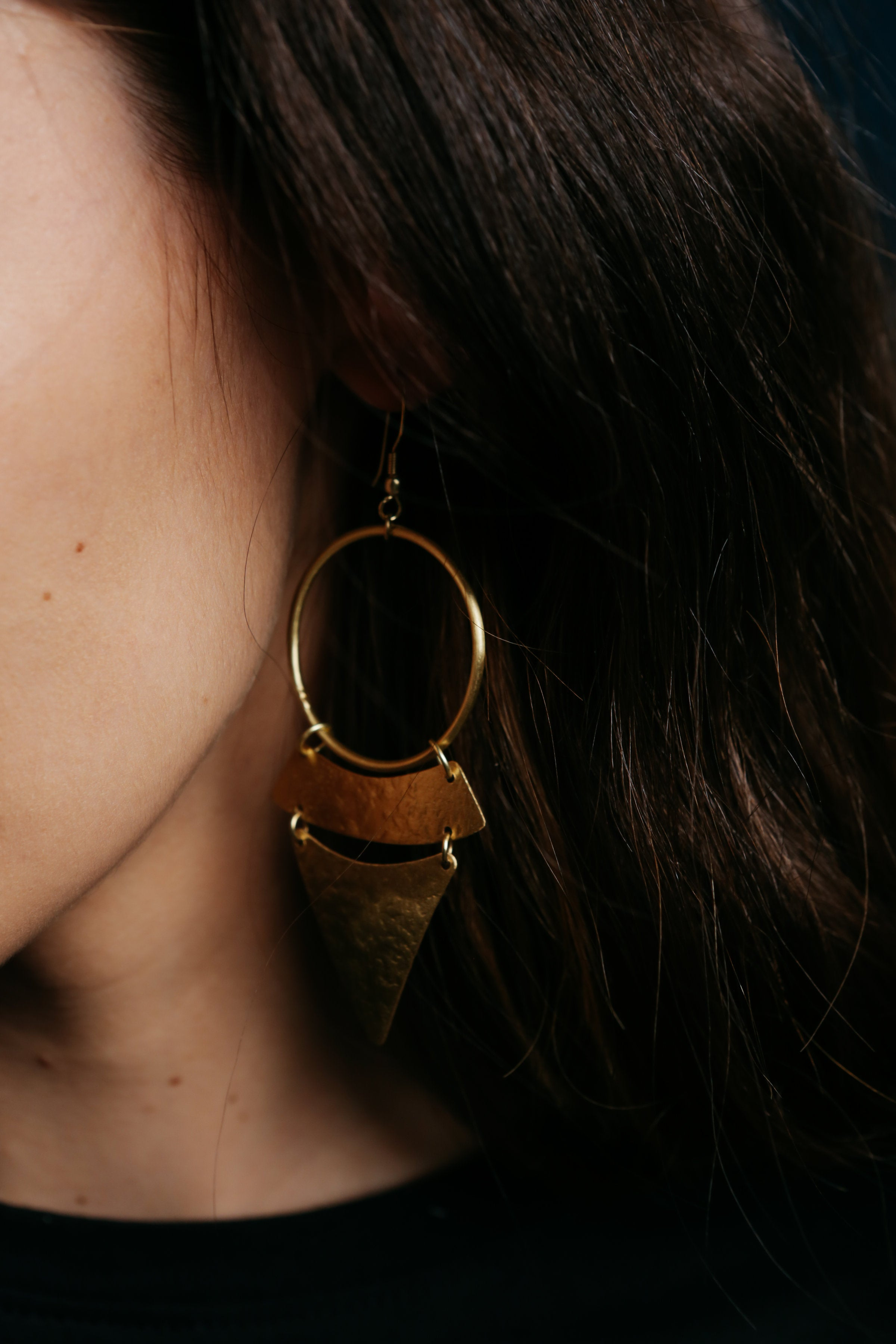 Stacked Sunra Earrings - Gold