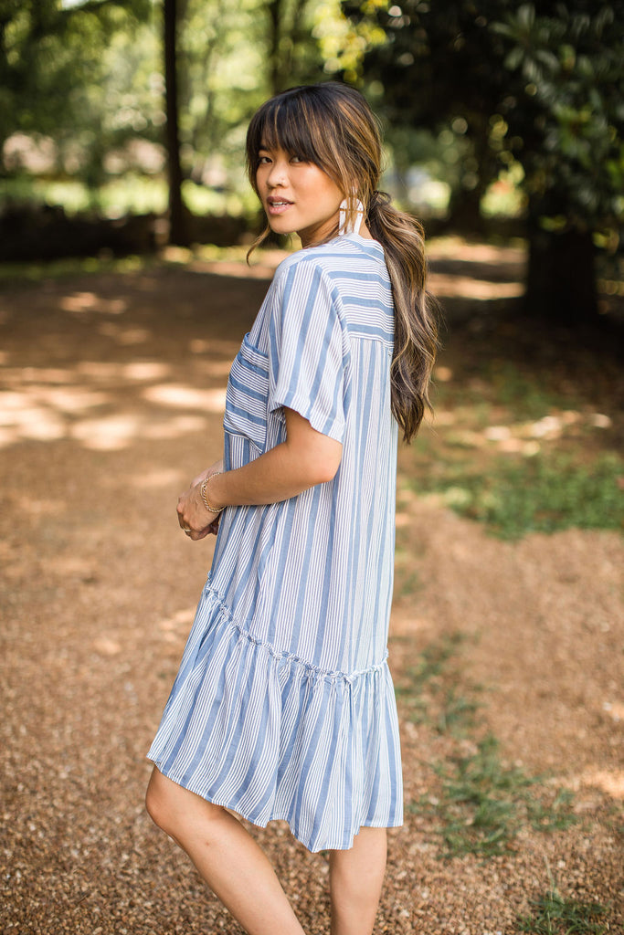 Stella Dress - Blue