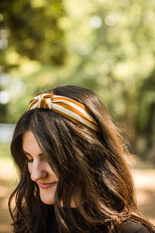 Striped Headband - Mustard