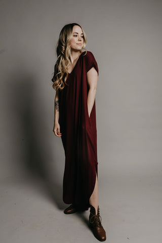 Sutton Dress - Burgundy