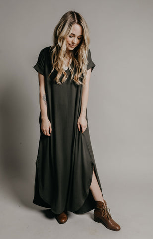Sutton Dress - Olive