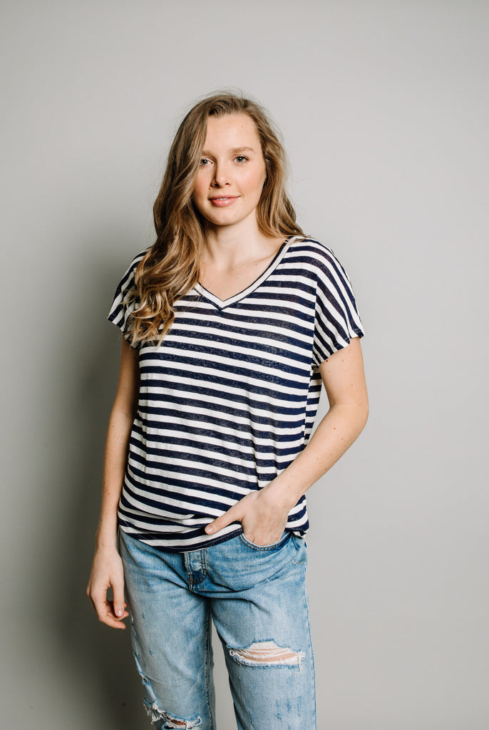Sutton Top - Navy