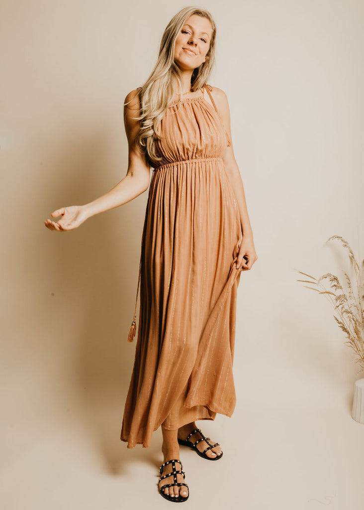 Sway This Way Dress - Rust