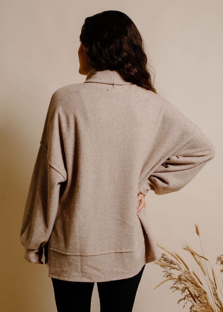 Teagan Turtleneck - Taupe