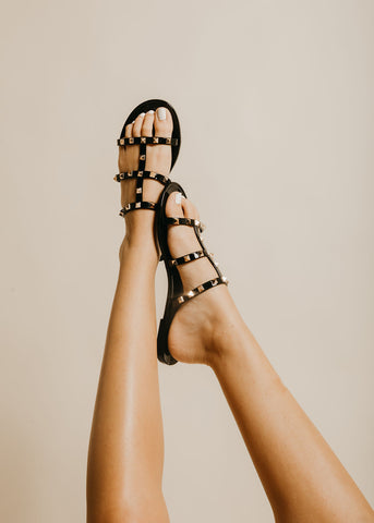 Tell Me About It Stud Sandal - Black