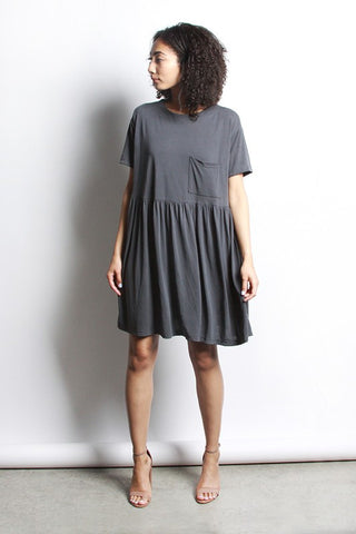 Coralie Dress - Charcoal