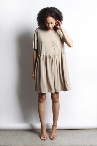 Coralie Dress - Taupe