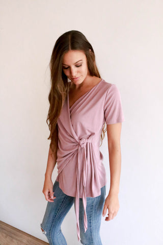 The Wrap Top - Blush