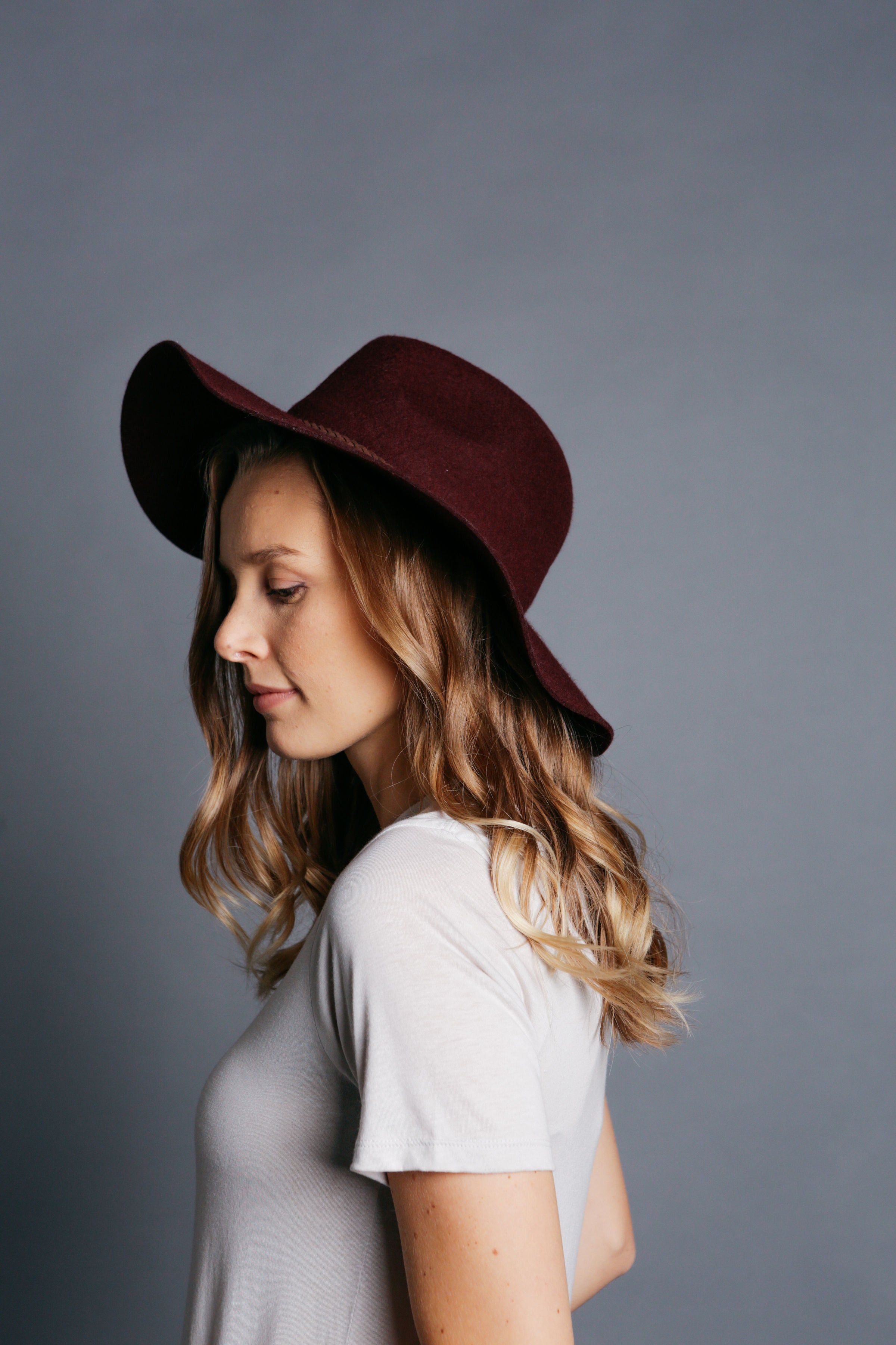 Billings Hat - Burgundy