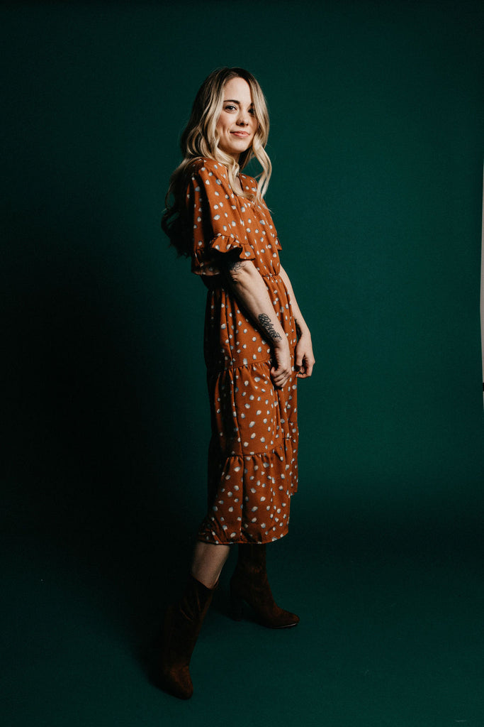 Umbria Dress - Rust