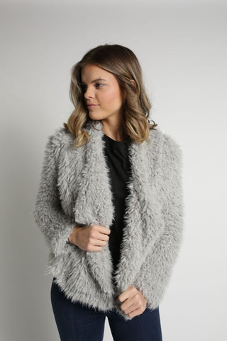 Veronica Fur Jacket - Grey