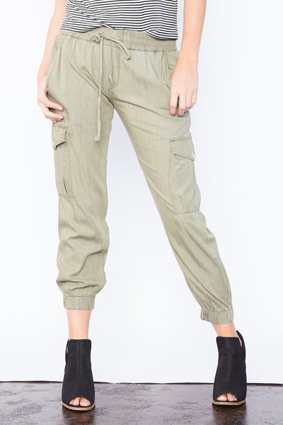 Cargo Joggers - Olive