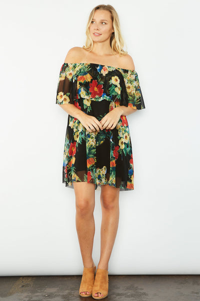 Pamela Floral Off-The-Shoulder Dress