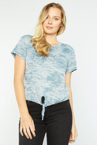Linda Knotted Top - Blue