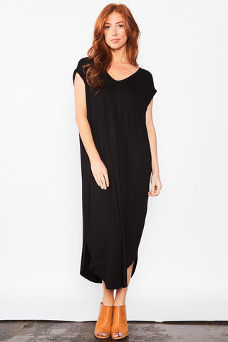 Leena Maxi Dress - Black