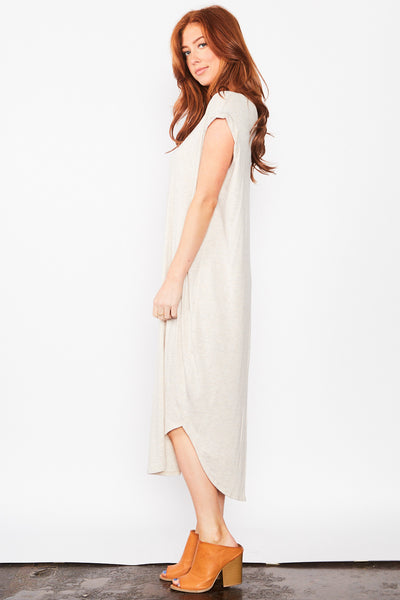 Leena Maxi Dress - Oatmeal