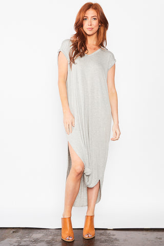 Leena Maxi Dress - Heather Grey