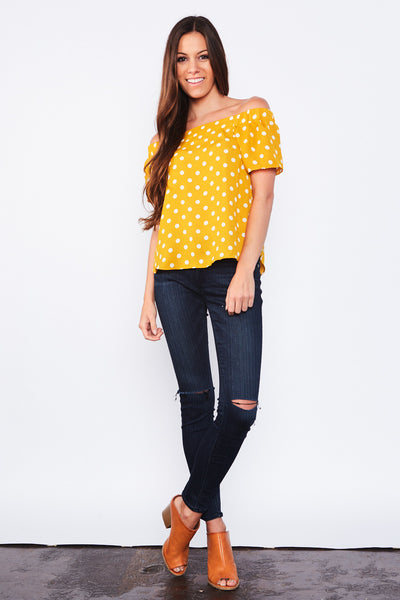Emmy Lou Top - Mustard