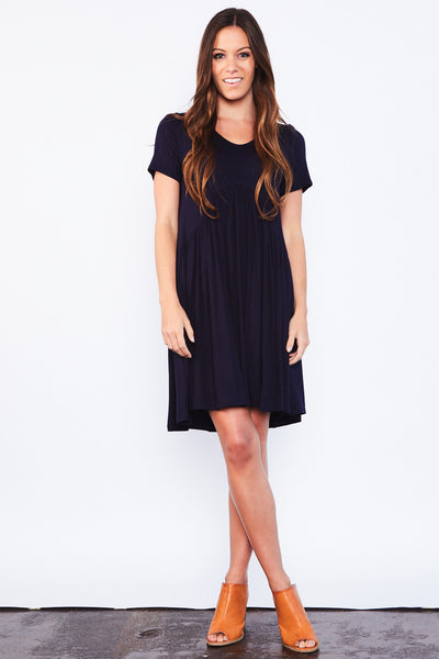 Tarah Tunic Dress - Navy