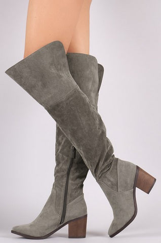 Vida Over-the-Knee Boots - Grey - Vinnie Louise - 1