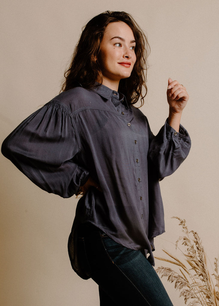 Wendell Blouse- Blue