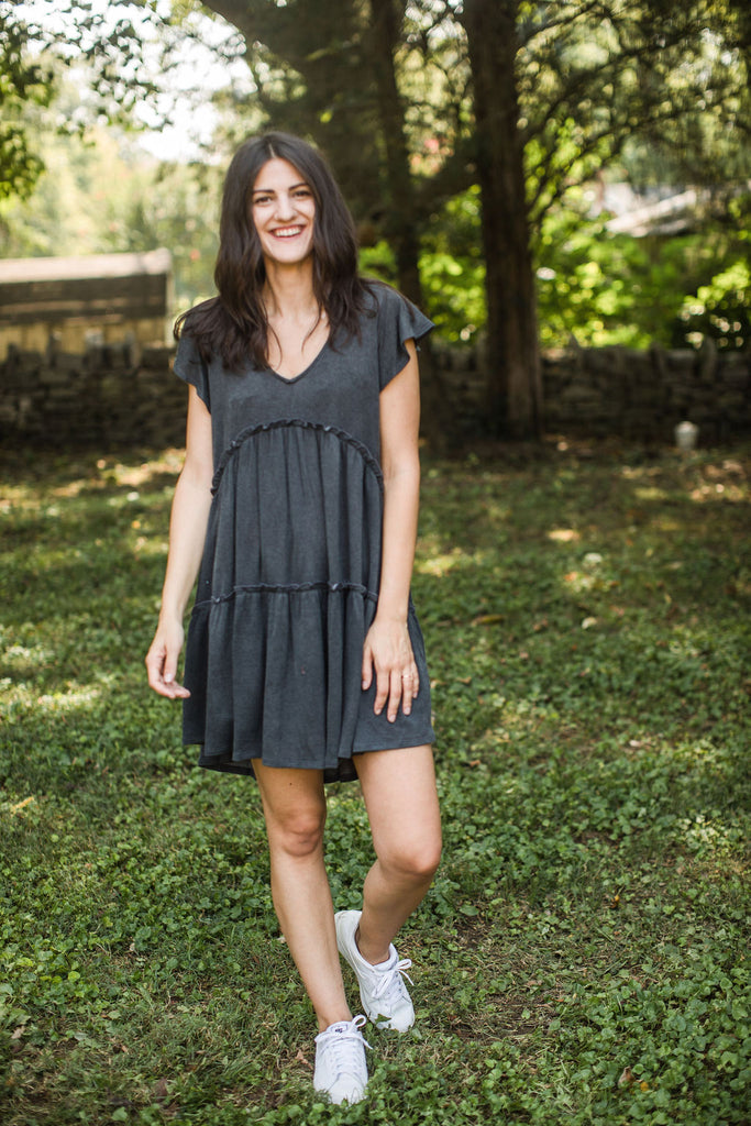 Wendy Dress - Charcoal