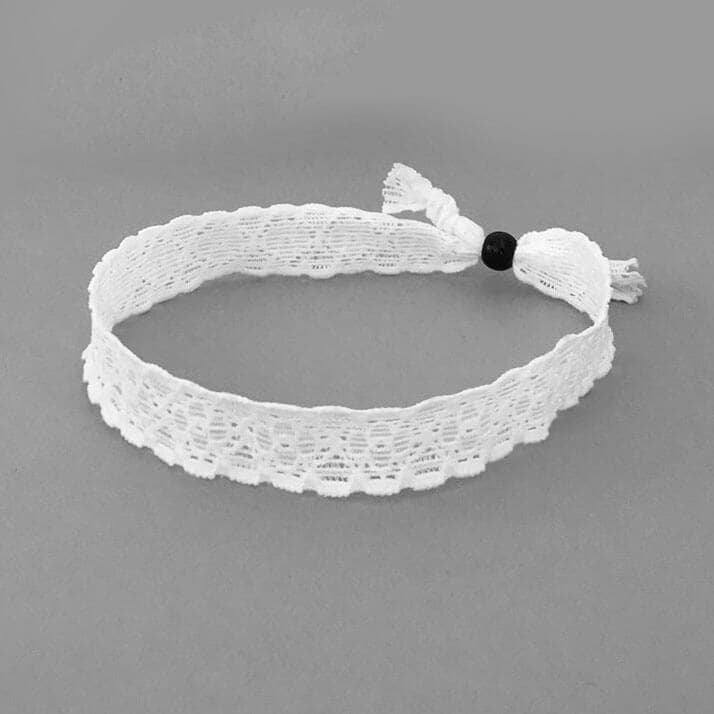 Lace Choker - White