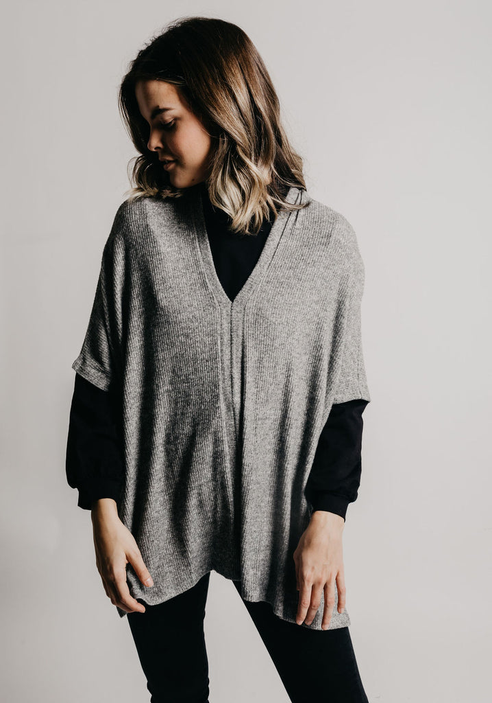 Zadie Top - Heather Grey