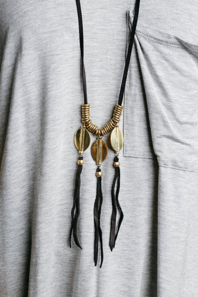 Zia Leather Necklace