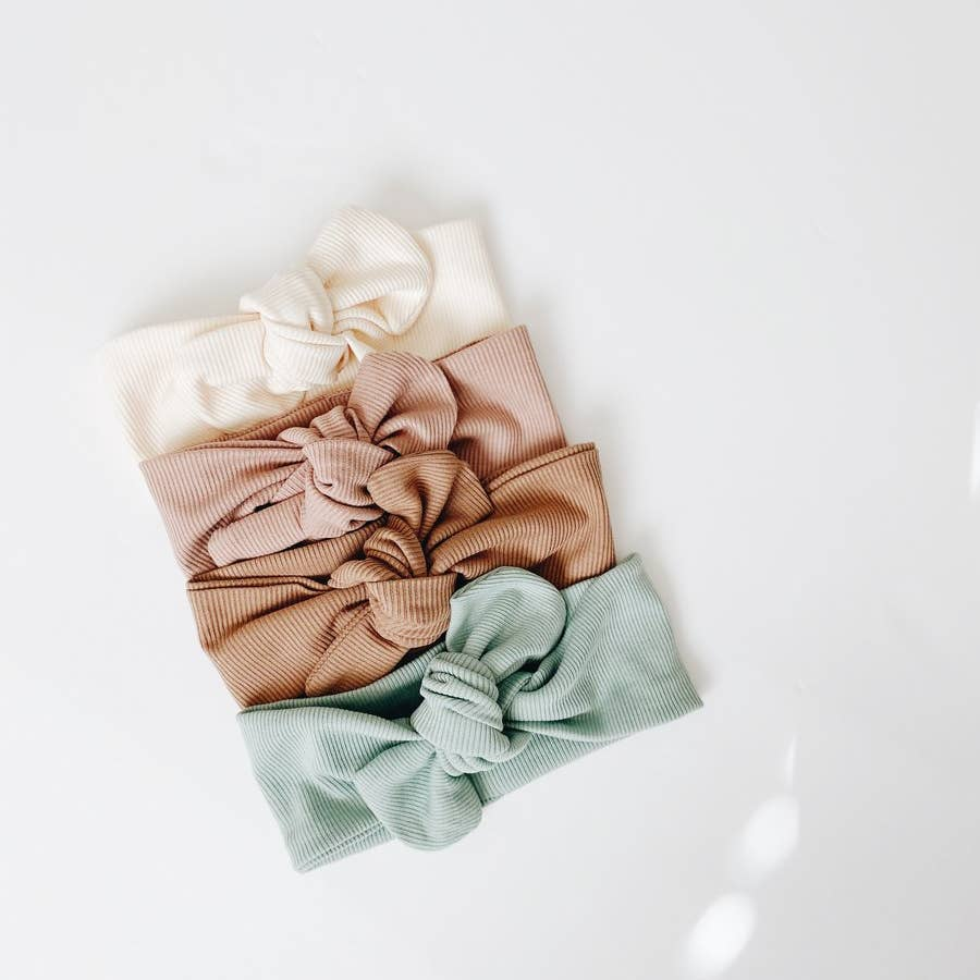 Ribbed Headwrap - Cream