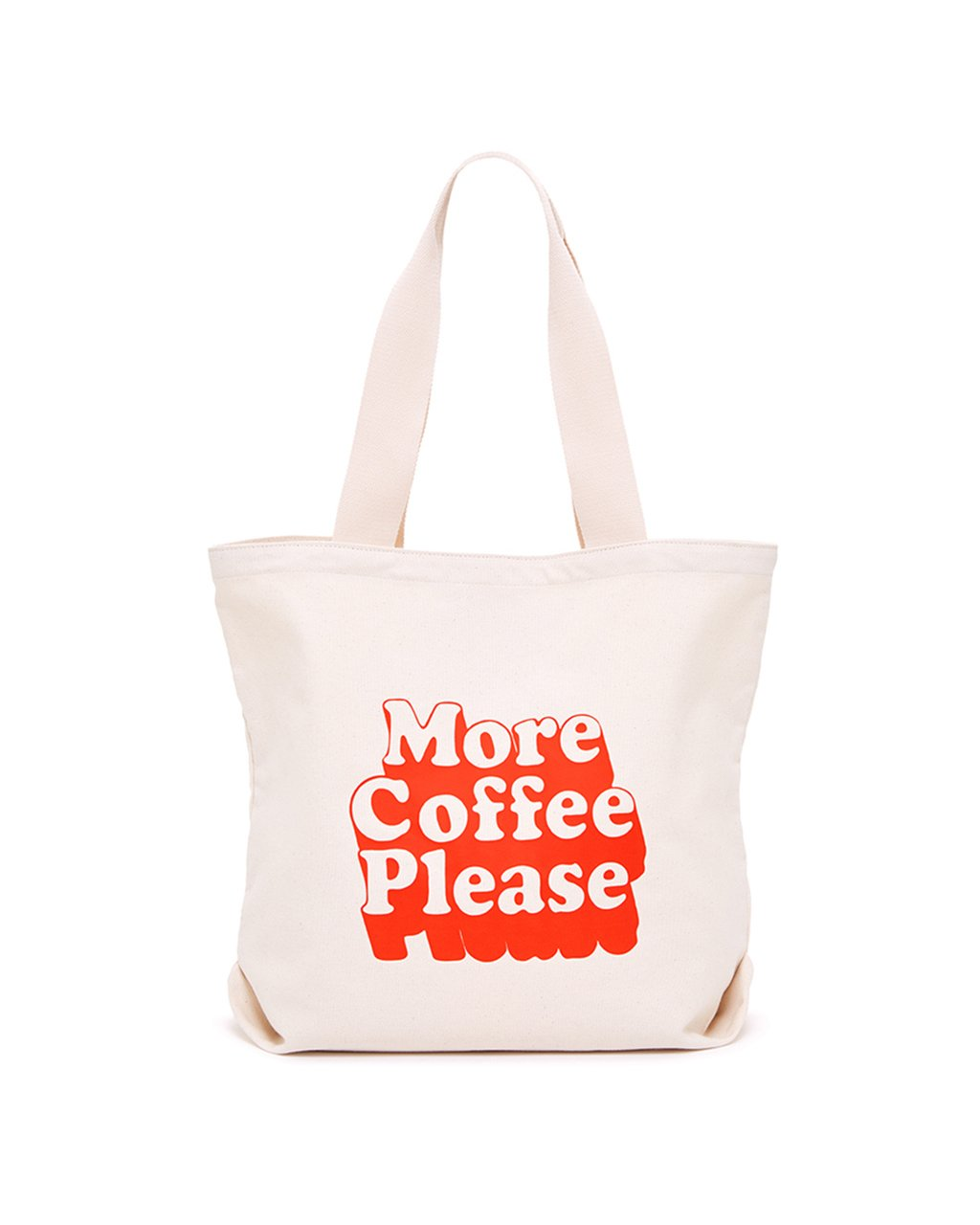Canvas Tote, More Coffee Please