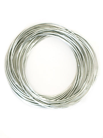 Connected Bangle Set - Silver
