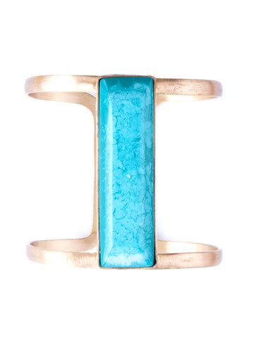 Marbled Stone Cuff - Turquoise