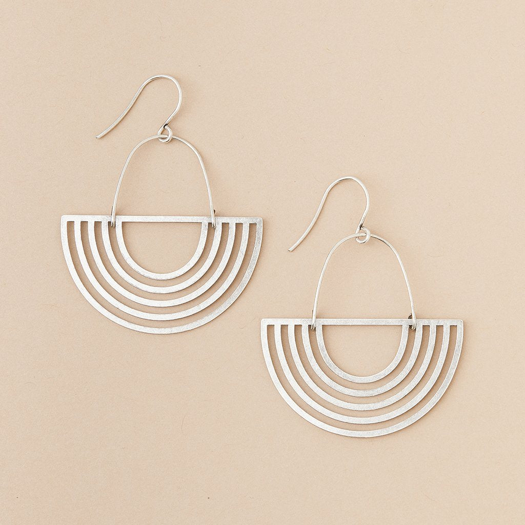 Refined Earring Collection - Solar Rays/Sterling Silver