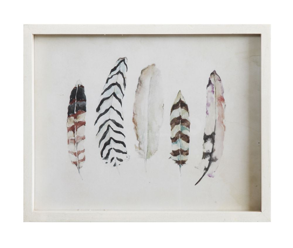 Wood Framed Wall Decor - Feathers Home Goods - Vinnie Louise