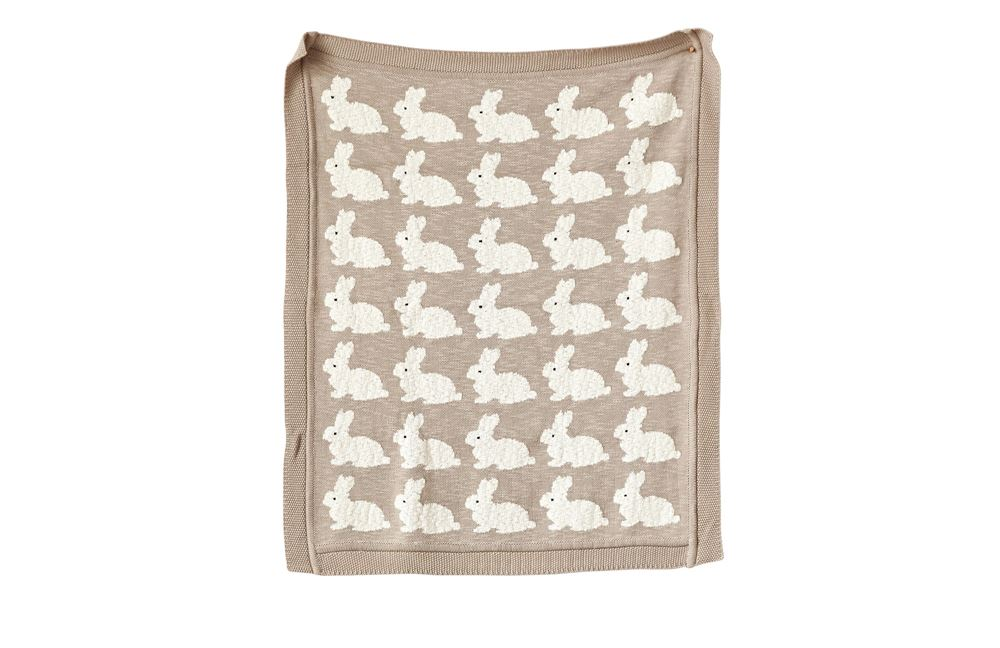 Cotton Knit Blanket - Rabbits Home Goods - Vinnie Louise