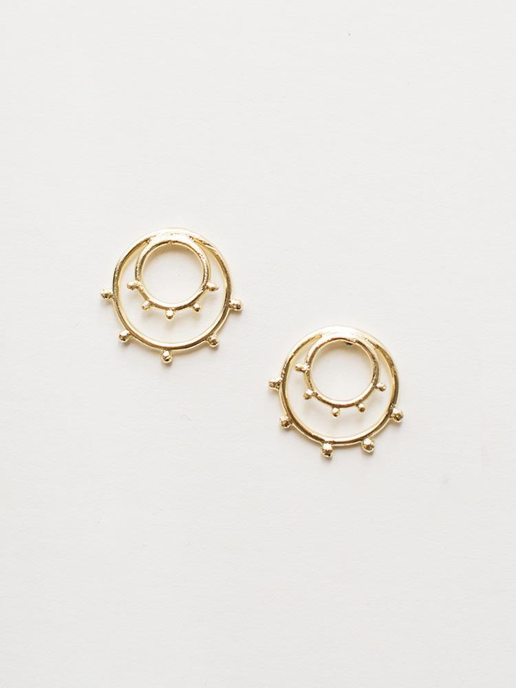 Sunburst Studs - Gold