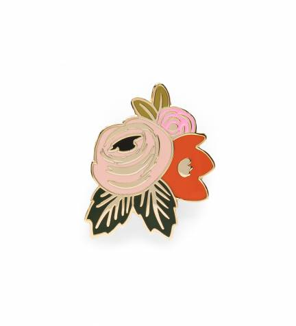 Rifle Paper Co. Rosa Enamel Pin Jewelry - Vinnie Louise