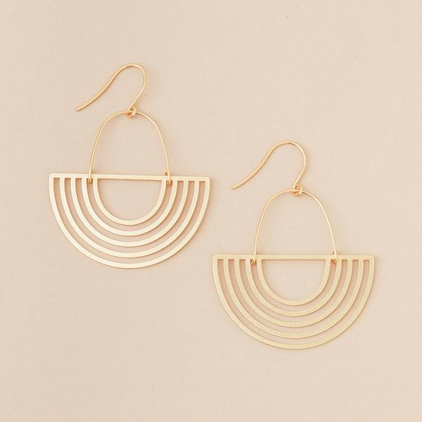 Refined Earring Collection - Solar Rays/Gold Vermeil