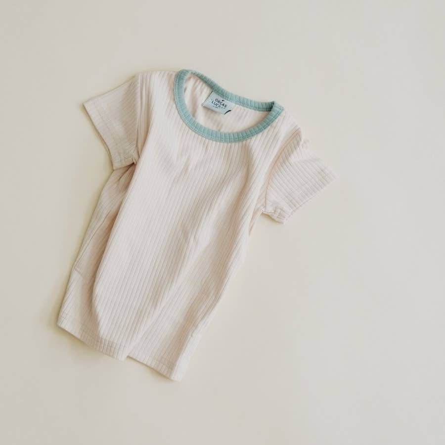 Retro Tee - Cream Ether Neckline
