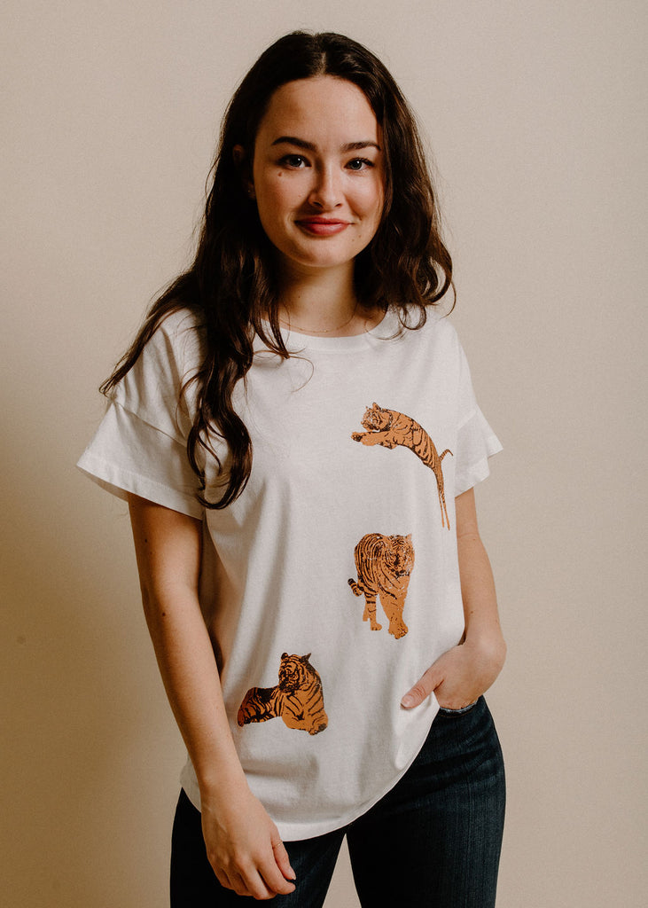 Tiger Graphic Tee - Ivory