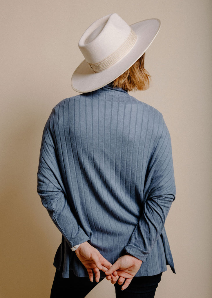 Billie Turtleneck - Denim Blue
